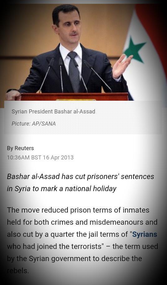 2013 Asad libera presos