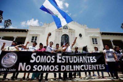 Protesta de estudiantes: situación que se está produciendo en Nicaragua