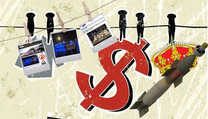 El reino de España y «sus jeques» multan a antimilitaristas
